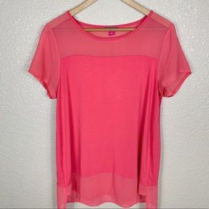Vince Camuto mesh panel blouse size L in EUC